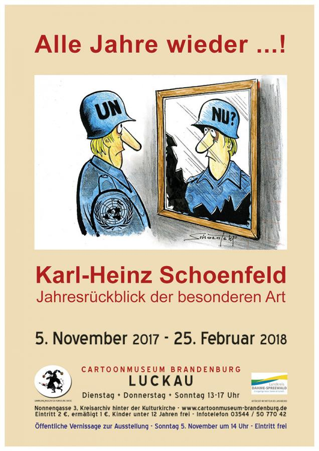 Plakat zur Ausstellung - Motiv von Karl-Heinz Schoenfeld - 2002